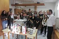 Na konci února s ekonal v Integrovaný střední škole ve Slavkově u Brna kurs pro baristy. Foto: archiv školy