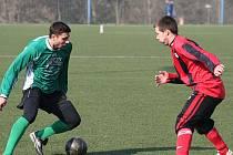 Rousínovští fotbalisté sehráli vyrovnanou partii s divizní Spartou Brno. Mohli i vyhrát, ale Růžička neměl den.