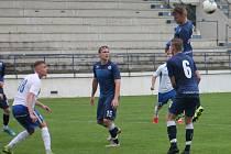 Snímek je z prvního přípravného utkání MFK v Drnovicích s Blanskem. Odvetu si soupeři dají v sobotu dopoledne v Blansku.