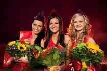 Miss Academia 2011 Pavlína Kadlecová z Podivic (uprostřed).