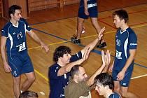 Volejbalisté Bučovic v utkání s Litovlí.