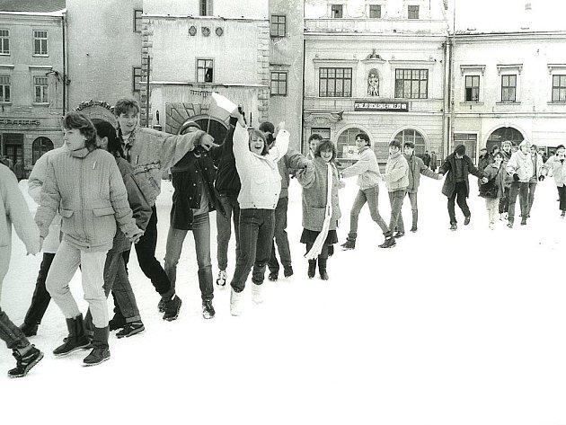 Fotografie z výstavy Listopad 89 na Vyškovsku.
