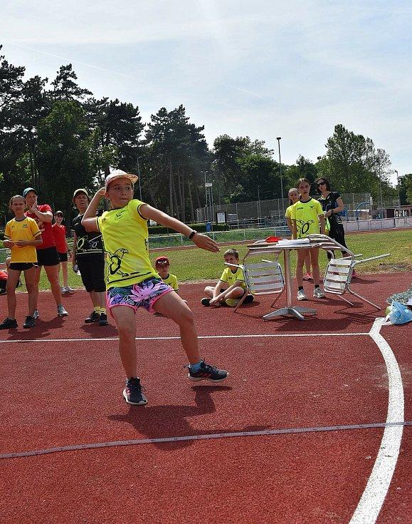 V úterý 15. 6. 2021 pokračovala druhým kolem Krajská liga atletických přípravek, tentokrát na novém atletickém stadionu v Kyjově.