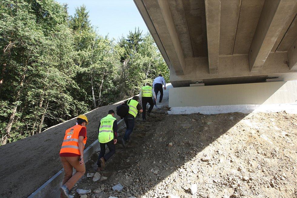 Modernizace dálnice D1 na hranicích Vysočiny a Jižní Moravy. Ilustrační foto