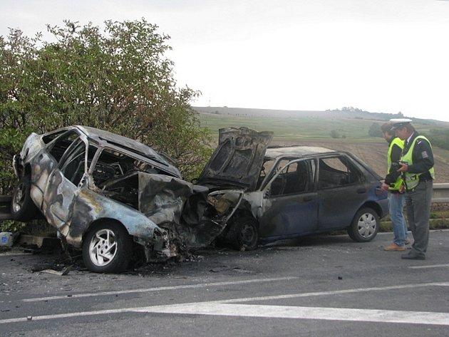 Tragédie u Slavkova: Motorista uhořel