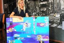 Vyškovanka Markéta Eliášová se abstraktní malbě věnuje asi šest let. Obrazy i prodává.