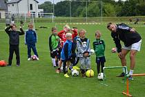 Zajímavý program nabídl letní kemp OFS Vyškov nejmladším fotbalistům v Komořanech.