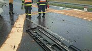 Dopravní nehoda na D1 u Velešovic.