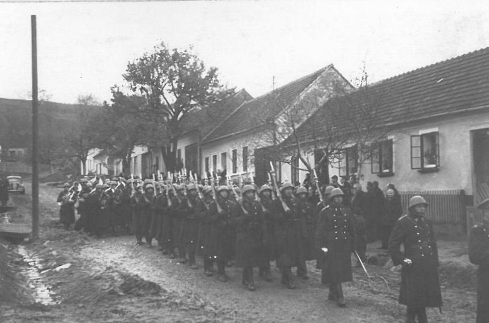 Pohřeb Josefa Červinky.