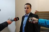 Postřelený voják Ludvík Šmíd po hlavním líčením na vyškovském okresním soudě.