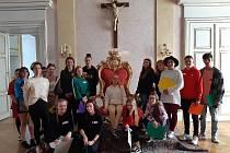 Studenti Integrované středné školy ve Slavově u Brna navštívili arcibiskupský palác a katedrálu sv. Václava v Olomouci.