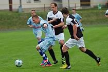 V utkání 20. kola moravskoslezské divize vyhráli fotbalisté MFK Vyškov v Pelhřimově
