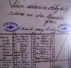 Jeden z dobových dokladů z éry zakládání sboru hasičů v Nemochovicích.