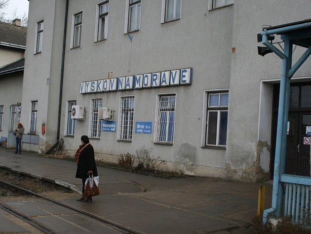 Vyškovské nádraží.