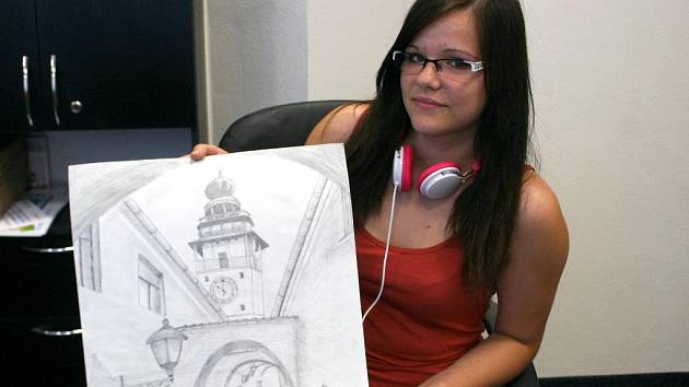 Monika Pivodová z Ivanovic na Hané je talentovaná kreslířka.