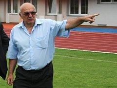 Štěpán Pataki, předseda MFK Vyškov, nováčka moravskoslezské fotbalové ligy.