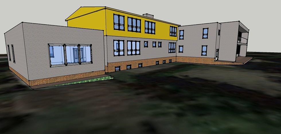 Vizualizace rozšíření křenovické školy.