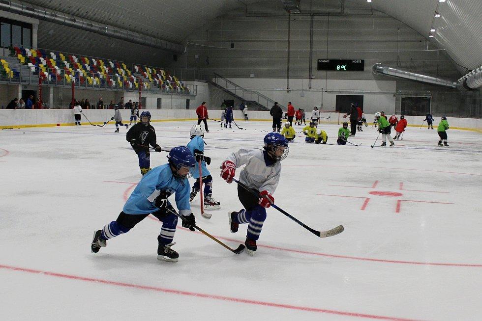 """Hokejisté Městského bruslařského klubu Vyškov měli tu čest jako první trénovat na ledě nového zimního stadionu ve městě. """"Doufáme, že aspoň dvacet let vydrží bez jakéhokoli zásahu,"""" přeje si předseda klubu Luděk Pour."""