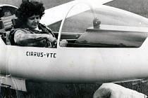 Vyškovská rodačka Věra Hudcová si na větroních vylétala ve své době velmi uznávaný titul zasloužilý mistr sportu.