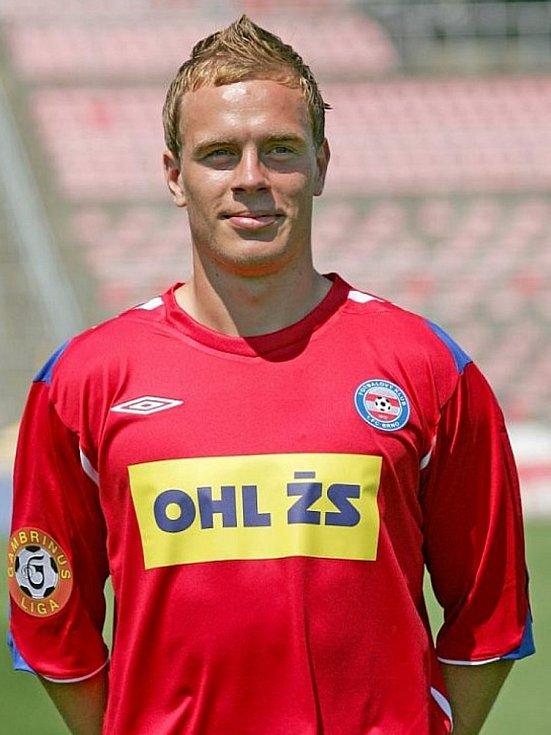 Roman Smutný v dresu 1. FC Brno, dnes Zbrojovka