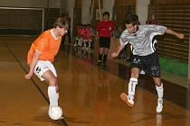 Futsalisté Pivovaru Vyškov proti K5 Brno.