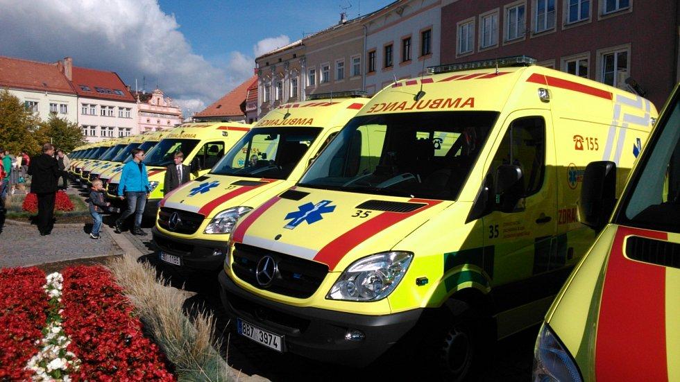 Prezident ve Vyškově předá Zdravotnické záchranné službě Jihomoravského kraje sedmnáct sanitek.
