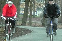 Smetanovy sady jsou častým cílem cyklistů