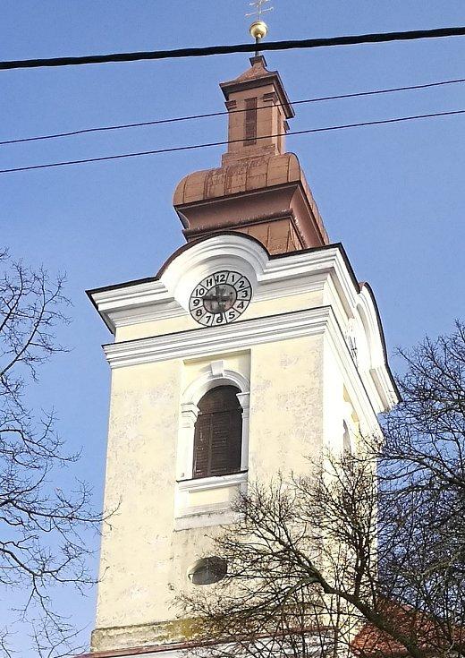Kostel v Bohdalicích-Pavlovicích.