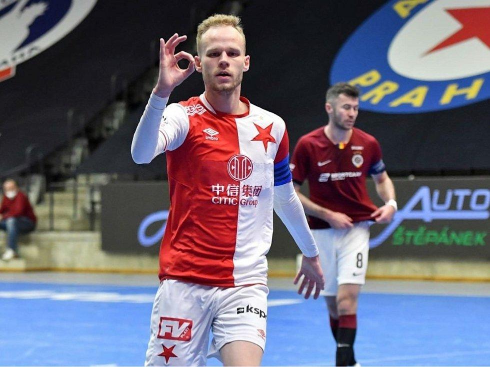 Jan Homola, kapitán futsalové Slavie Praha. Rodák z Dražovic.