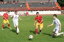 Fotbalisté Rostexu Vyškov nepotvrdili dobré výkony z posledních zápasů. S posledními Hrušovany doma překvapivě prohráli, přestože míč měli většinou na svých kopačkách.