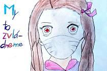 Žákyně ZUŠ Vyškov Anastasia Myshko kreslila Karanténu očima dětí.