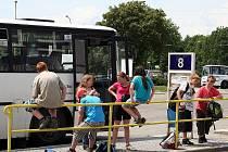 Autobusové nádraží ve Vyškově.