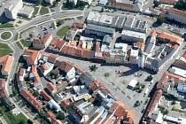 Vyškovské Masarykovo náměstí.
