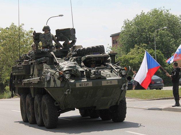 První američtí vojáci dorazili do Vyškova až před druhou hodinou odpoledne.