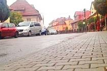 Jiráskova ulice ve Vyškově.