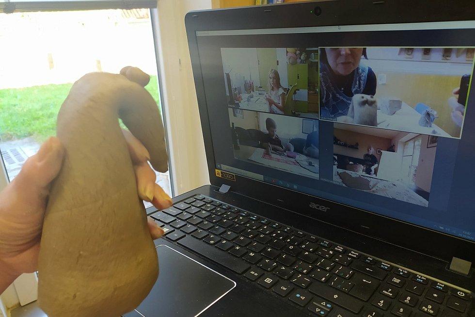 Pracovníci Domu dětí a mládeže v Bučovicích vedou některé kroužky s dětmi on-line.
