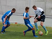 V utkání A skupiny fotbalové I. B třídy porazil Slavkov u Brna Rudice 3:2.