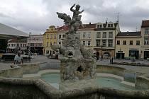Masarykově náměstí ve Vyškově.