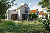 Vizualizace nových rodinných domů v Račicích.