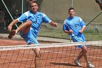 Na mistrovství republiky dvojic v Modřicích.