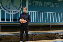 Bedřich Kolář, trenér fotbalistů Sokola Bohdalice.