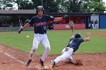 V dalším dvoukole I. ligy baseballisté Pelikans Bučovice dvakrát porazili Wolfs Domažlice.