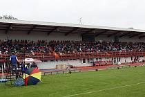 Vyškovský stadion. Ilustrační fotografie.