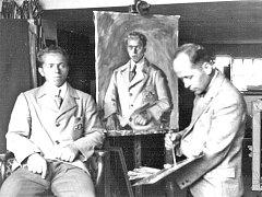 Olympijský vítěz na kruzích z roku 1936 v Berlíně Alois Hudec z Račic se nechal malovat známým vyškovským malířem Svatoplukem Součkem.