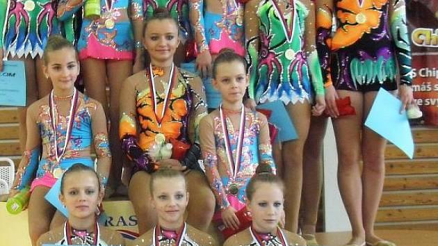 Gymnastky SK Trasko Vyškov na MR.