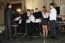Vánoční koncert žáků a učitelů Základní umělecké školy Františka France.