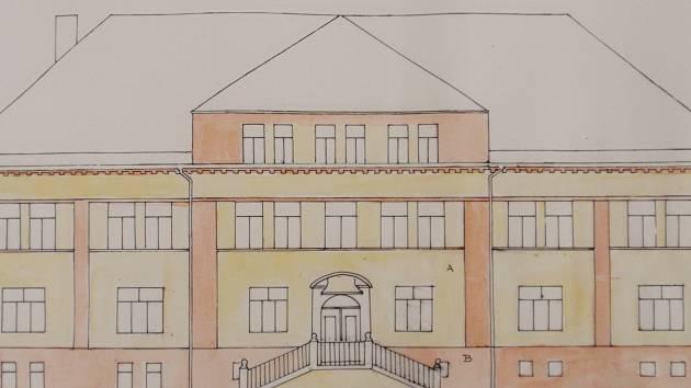Návrh nové fasády Základní umělecké školy Bučovice.