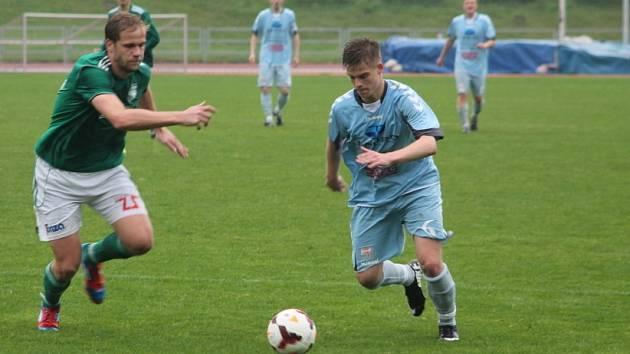 Fotbalisté MFK nasázeli brněnskému soupeři pět branek. V obraně si ovšem také vybrali slabší chvilky, takže v dešti se odehrálo drama