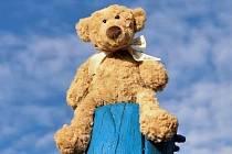 Putovní medvídek Lumpík.