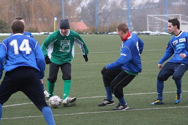 Vyškovský tým fotbalistů vyhrál derby. Rousínov ale nebyl nejhorší.